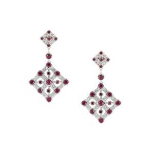 Geometric-Ruby-&-Dia-Drop-Earrings
