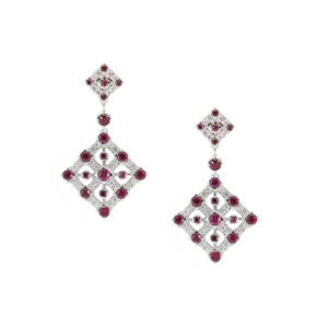 Geometric-Ruby-&-Dia-Drop-Earrings