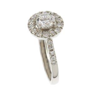 Brilliant-Cut-Diamond-Halo-Ring